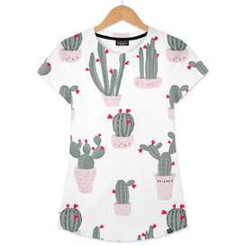 Love in the Desert Cacti Pattern