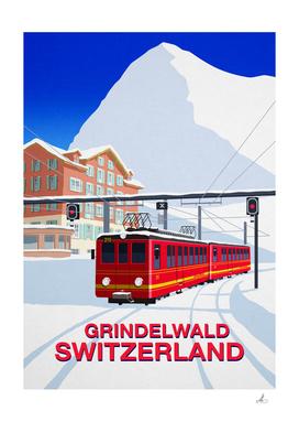 Grindelwald Ski Poster