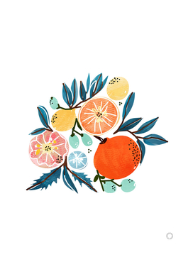 Fruit Shower-art-print