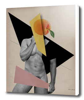male body and peach