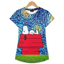 Starry Night Art Snoopy