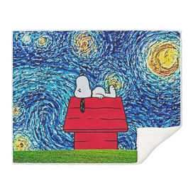 Starry Night Art Snoopy