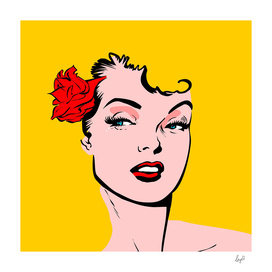 Pin up blondy