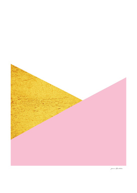 gold and pink geometry