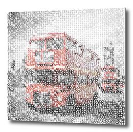 Typographic Art | LONDON Westminster Bridge Buses
