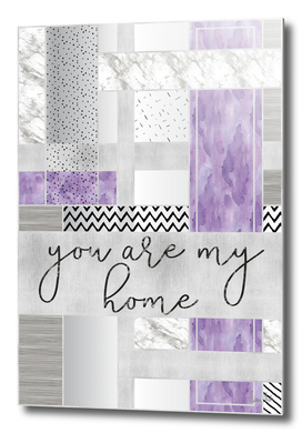 Graphic Art SILVER You are my home | violet