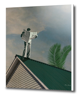 man on the roof