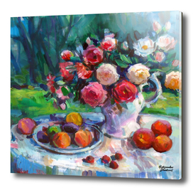 Fruits & Rose Flowers