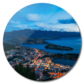 Queenstown City Lights, New Zealand