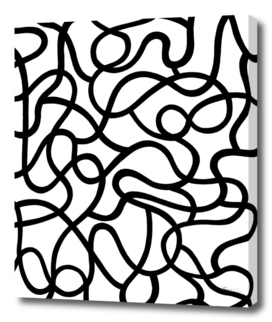 Organic River Lines - White-Black