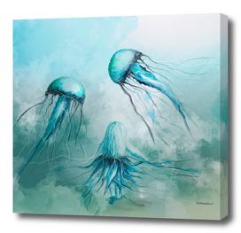 child jellyfish watercolor