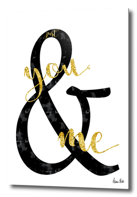 Text Art JUST YOU & ME