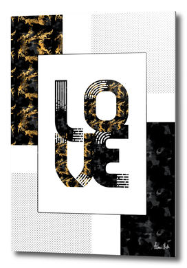 Graphic Art Gold LOVE | black