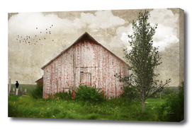 Weathered Red Barn