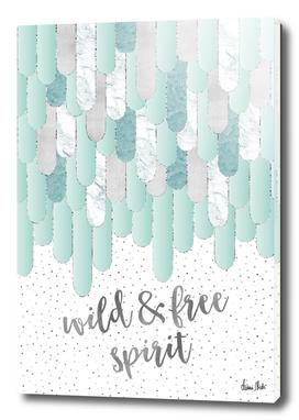 Graphic Art Feathers WILD & FREE SPIRIT | mint