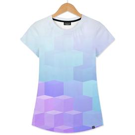 Pastel Cube Pattern Ombre 2.