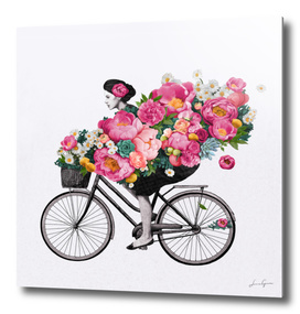 floral bicycle