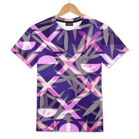 Fresh Vibrant Purple Geometric Bamboo Design