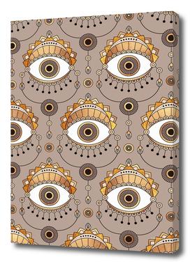Gold Eyes Pattern