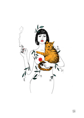 CAT & CIGARETTE