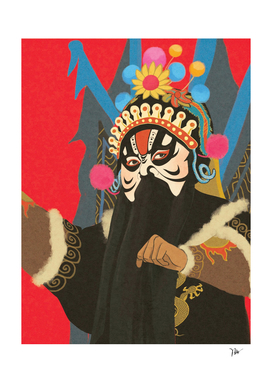 A Vietnamese Opera Character - Ta On Dinh