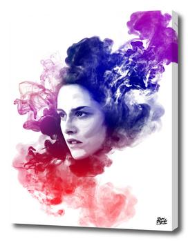 Kristen Stewart Watercolor Portrait
