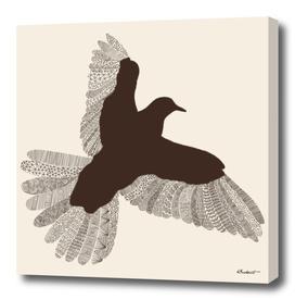 Bird (On Beige)