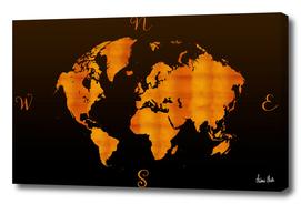 MODERN GRAPHIC ART World Map |  Redgold