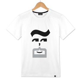 Type Faces - The Goatee - Black and White Tee