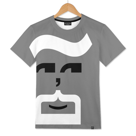 Type Faces - The Goatee - Black and White