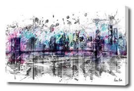 Modern Art NEW YORK CITY Skyline | Splashes