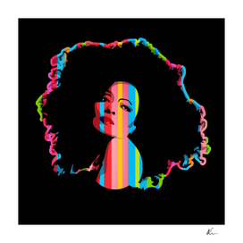 Diana Ross | Dark | Pop Art