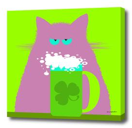 Saint Patrick's Day Lilac Cat