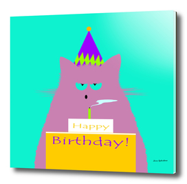 Birthday Lilac Cat