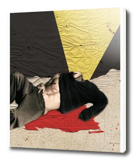 black red yellow man