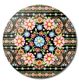 Millefiori Floral Rosette