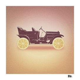 Oldtimer / Historic Car with lemon wheels