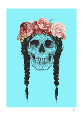 Skull with floral crown (pop)