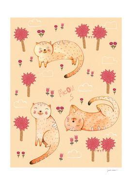 Orange Cat Pattern