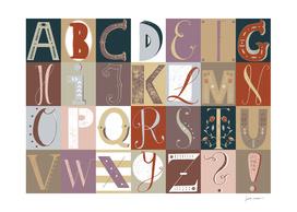 Alphabet red/violet