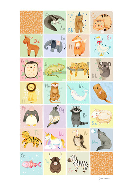 English Animal Alphabet