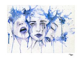 Melancholy blue