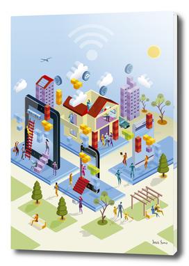 Isometric Wireless City