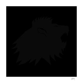 black on black lion