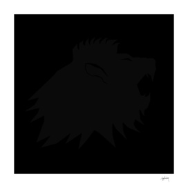 black on black lion