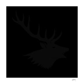 black on black deer