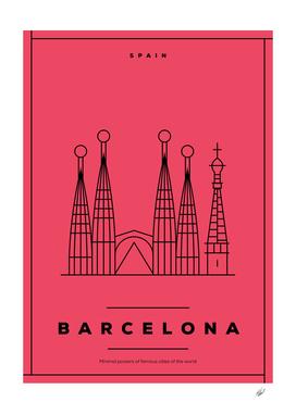Minimal Barcelona City Posters