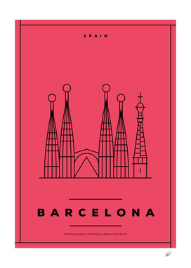 Minimal Barcelona City Posters