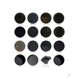 Pigments Noirs. Black pigments
