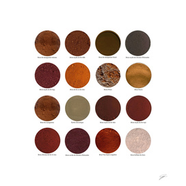 Pigments Bruns.Brown pigments